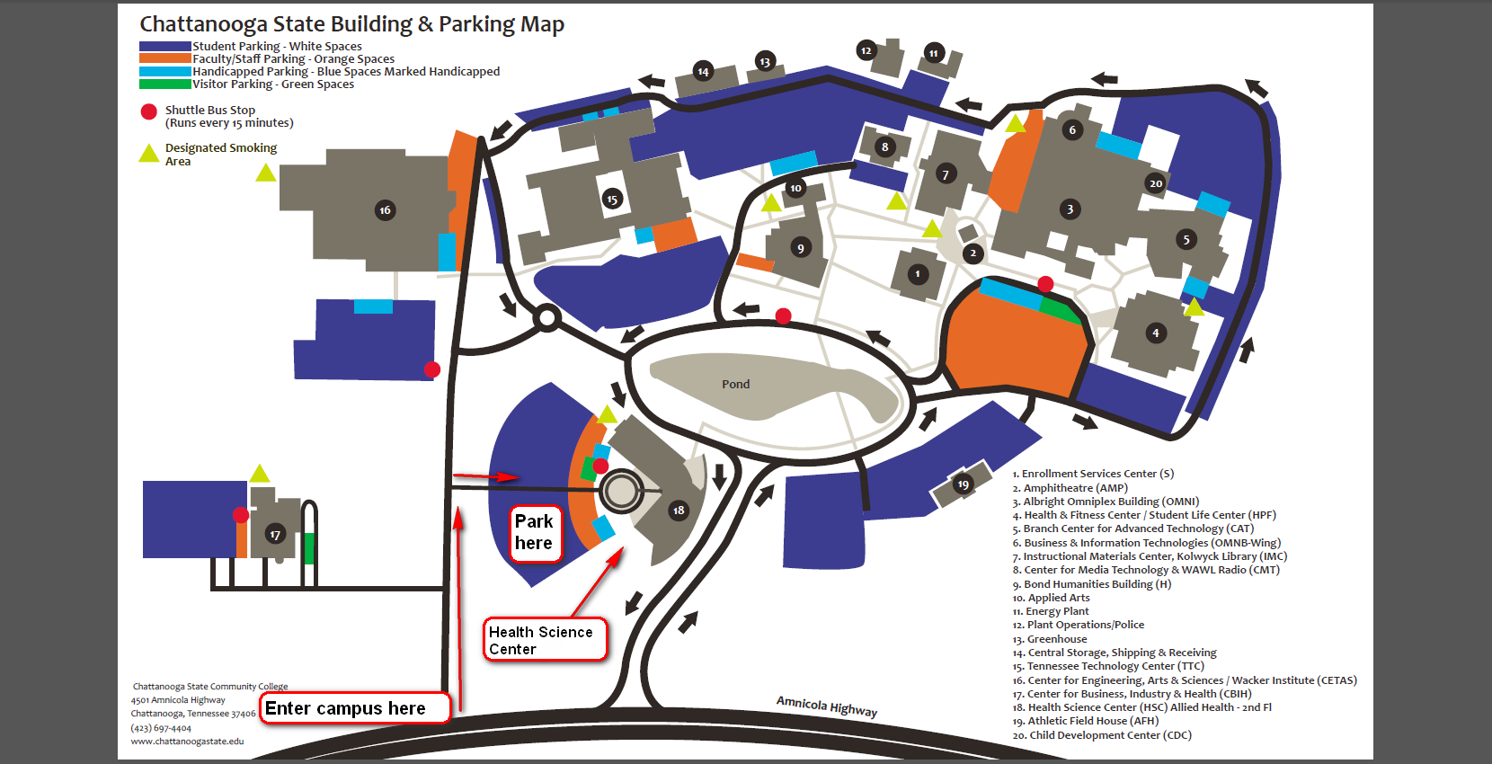 Chattanooga campus map