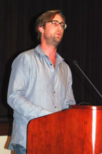 Chad Prevost reading from 40 martyrs, Chattanooga State, Fall 2010