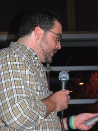 Dan Crocker reading for Meacham at the Stone Cup, October 29, 2010
