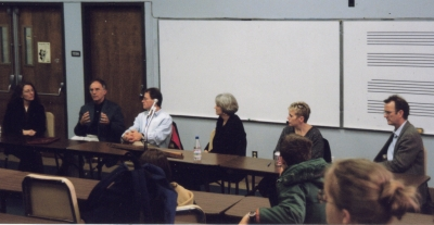 Writers panel, Chattanooga State, 1999